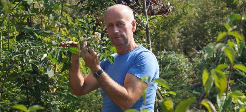 Jan van Vulpen op de kwekerij